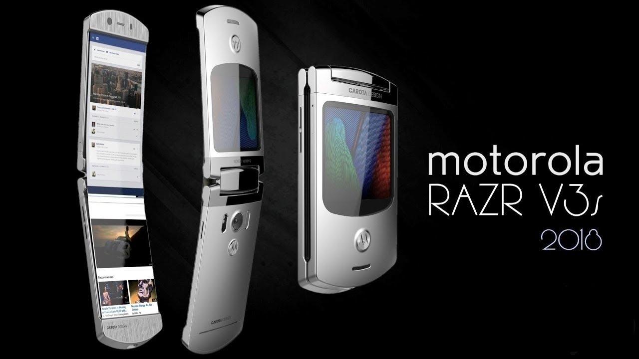 Fondos De Pantalla Para Celulares Android Y Iphone 2018: Motorola RAZR V3s 2018 Con Android Y Pantalla Plegable