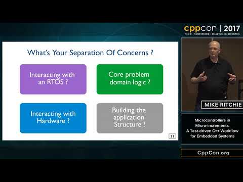 """CppCon 2017: Mike Ritchie """"Microcontrollers in Micro-increments..."""""""