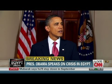 CNN Official: Obama speaks on Egypt