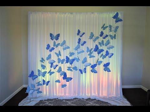 Butterfly Backdrop DIY