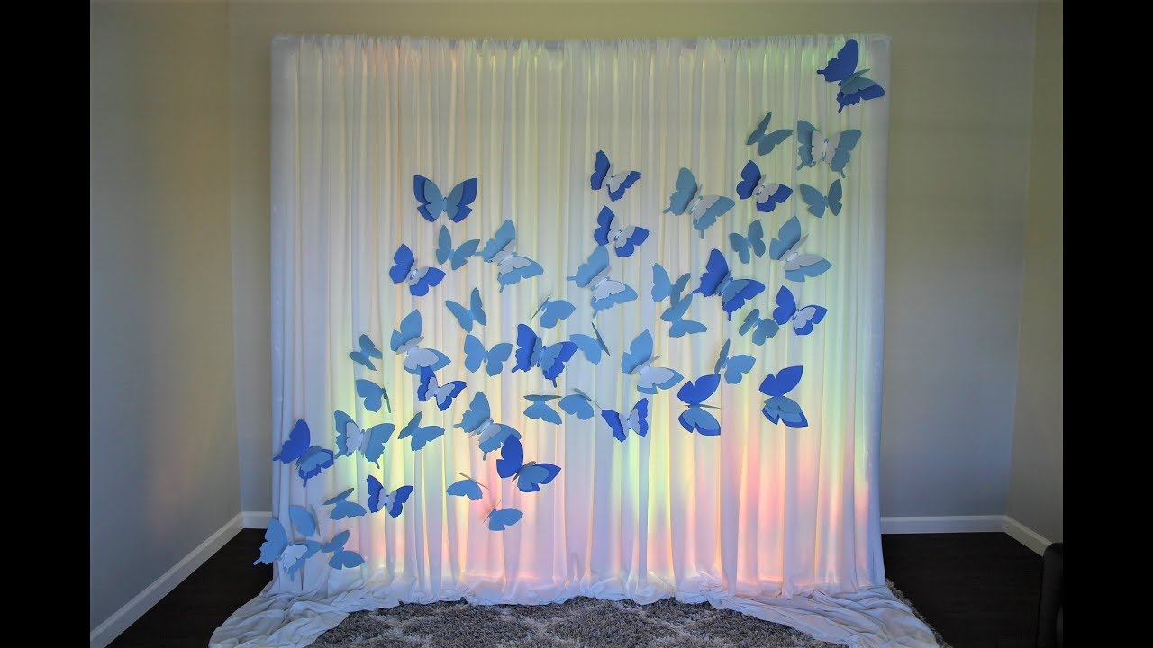 Butterfly Backdrop Diy Youtube