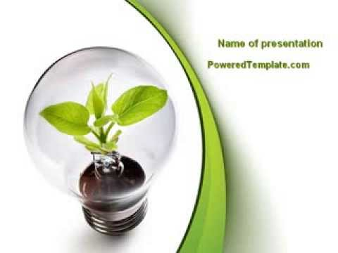Renewable Green Energy Powerpoint Template By Poweredtemplate
