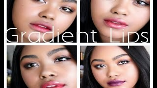 Black Girl Tries Korean Gradient Lip Trend 4 WAYS 립 그라데이션 하는 방법 | KennieJD