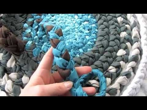 How To Bathroom Rug From Fabric Braids Youtube