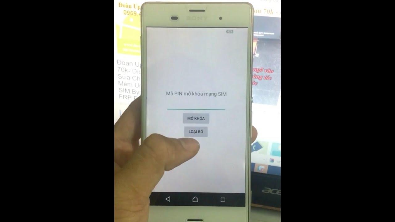 Dịch vụ unlock sim mở mạng mua code Sony Xperia xách tay nhật bản nước ngoài giá rẻ tại Hà Nội