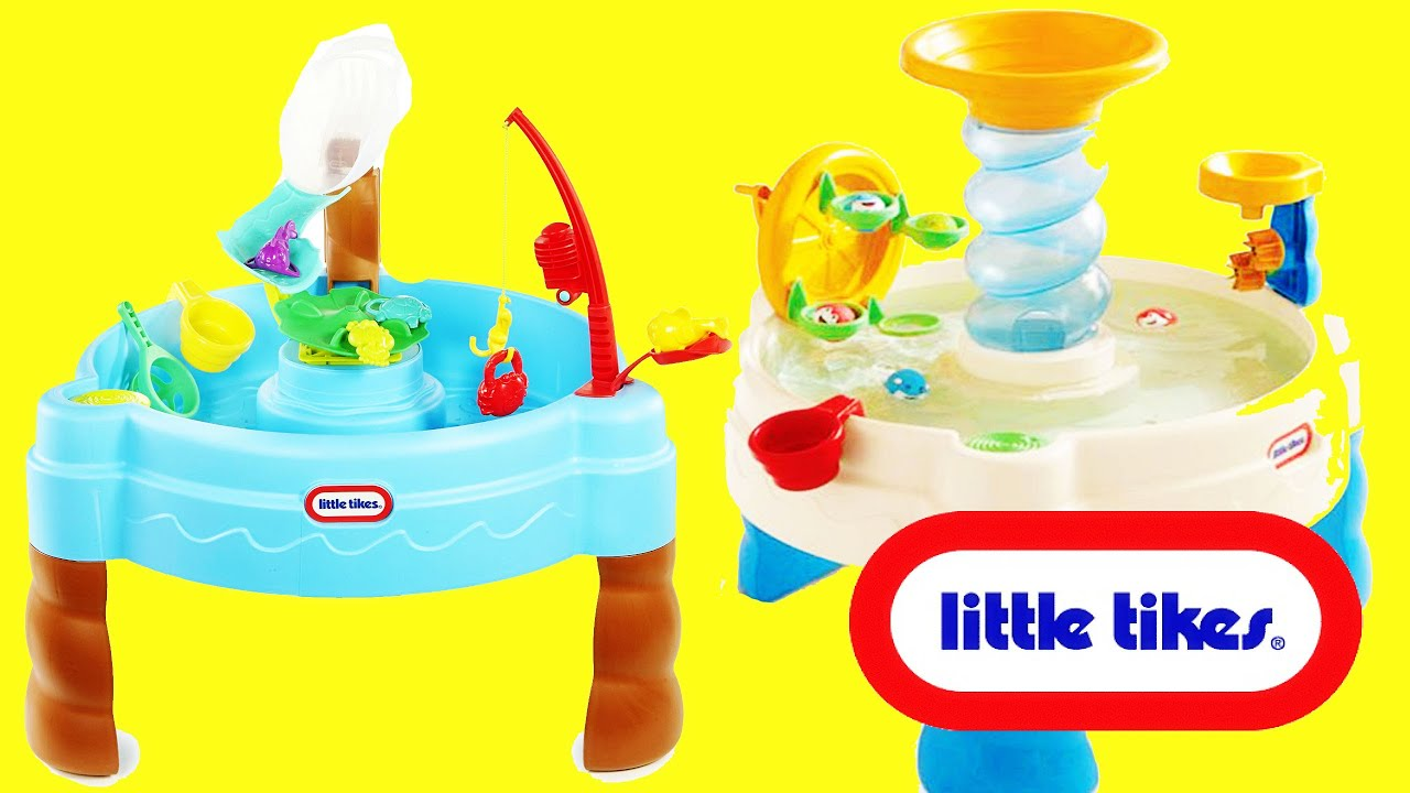 Little Tikes WATER TABLES with Water Slide! Giant Surprise Toys ...