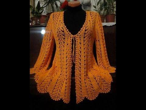 Crochet Cardigan Free Crochet Patterns60 YouTube Amazing Crochet Long Cardigan Pattern