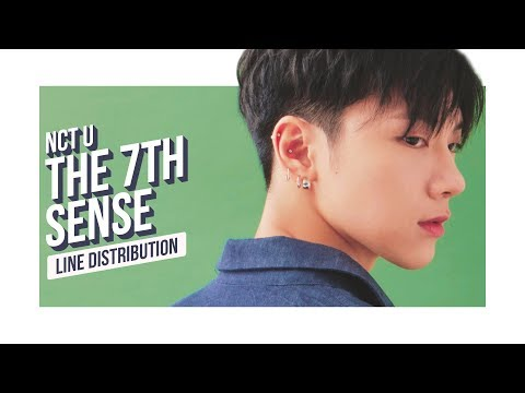 NCT U - 7th Sense Line Distribution (Color Coded)