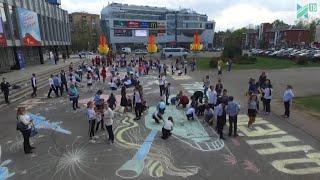 Рисунок Победы на главной площади Ивантеевки