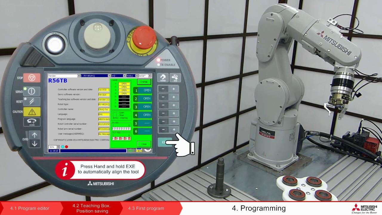 Robot Melfa programming – Lesson 4.2 Teaching Box. Saving the ...