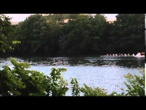 Rowing under The South Congress Avenue Bridge 2