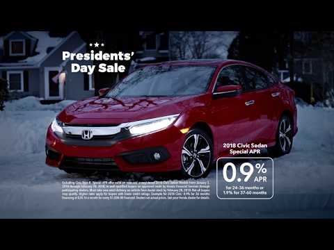 Suiting Up - Presidents' Day Sale – 2018 Civic 0.9% APR