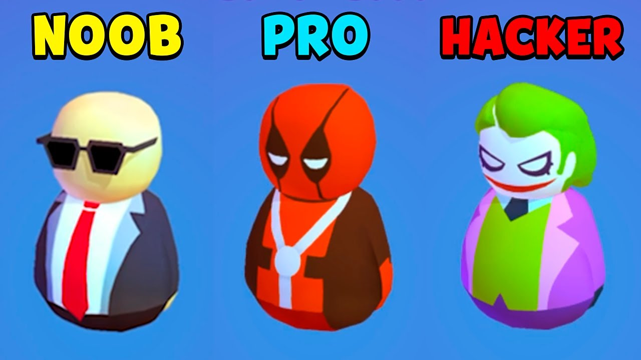 NOOB vs PRO vs HACKER – Wobble Man