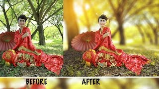 Photoshop Tutorial | Fantasy Looks Photo Effect(in this photoshop tutorial video you will see, how to get blur on the background, adding soft light effect, how to use dodge & burn and many more. hope you like ..., 2016-11-30T15:15:34.000Z)