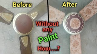 How to paint an old ceiling fan | ceiling fan makeover