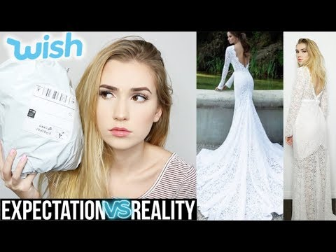 $19 WEDDING DRESS FROM WISH.COM | One Size Fits All.. what?!