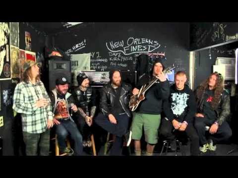 King Parrot stops by Housecore HQ