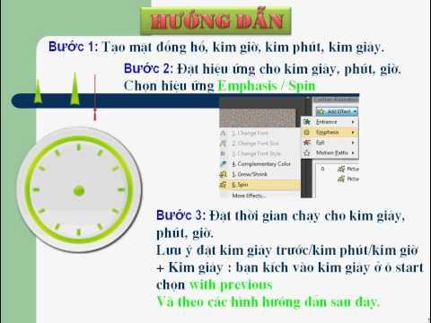 Huong dan tao dong ho tren Microsoft Office PowerPoint 2003