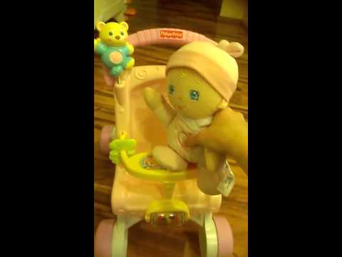 Fisher-Price Brilliant Basics Stroll-Along Walker And Hug 'n Giggle Baby