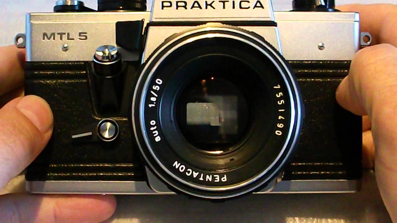 Praktica mtl with pentacon mm auto lens test youtube