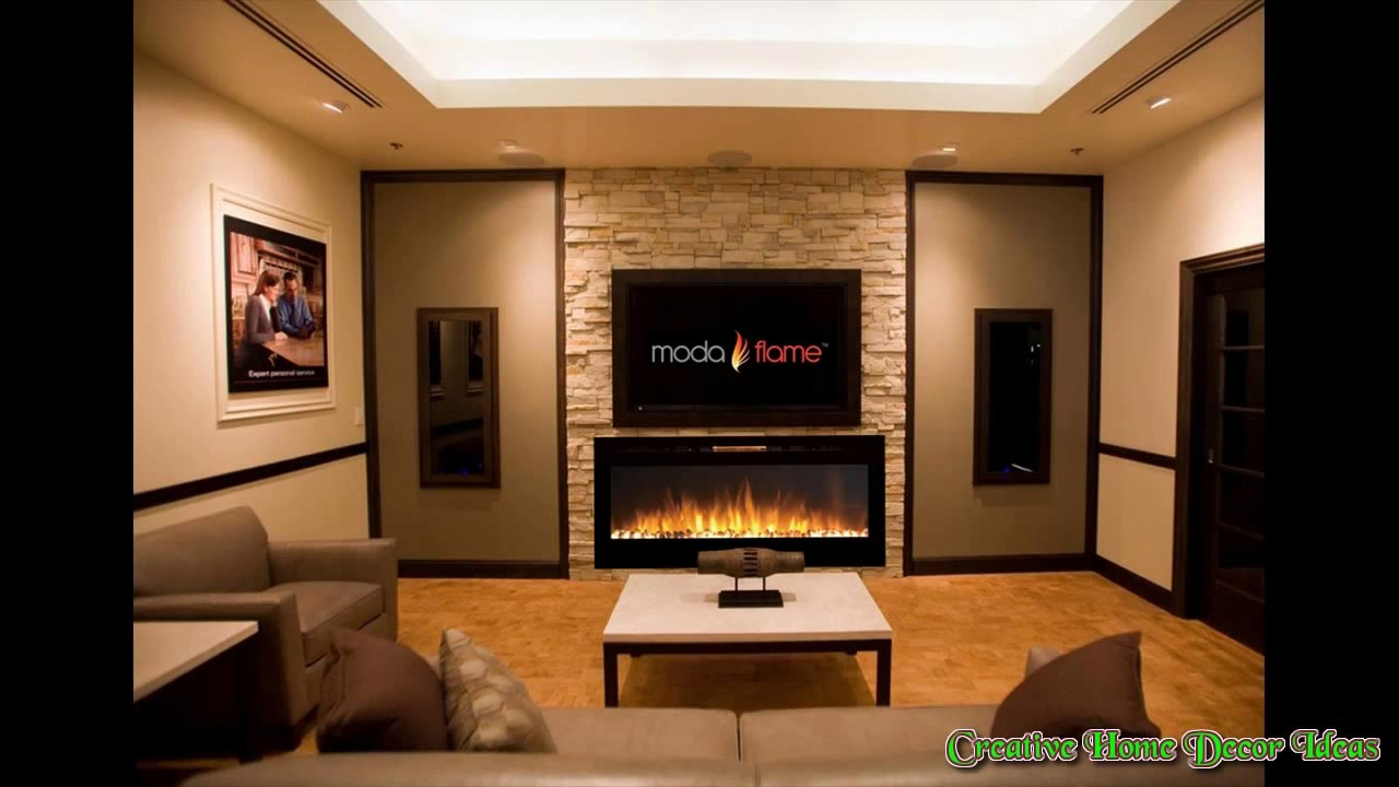 Electric Wall Fireplace Ideas | Desainrumahkeren.com