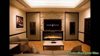 Wall Hanging Electric Fireplace Ideas