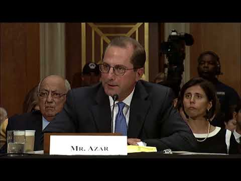 Isakson questions Mr. Alex Azar at his Senate Finance Committee confirmation hearing