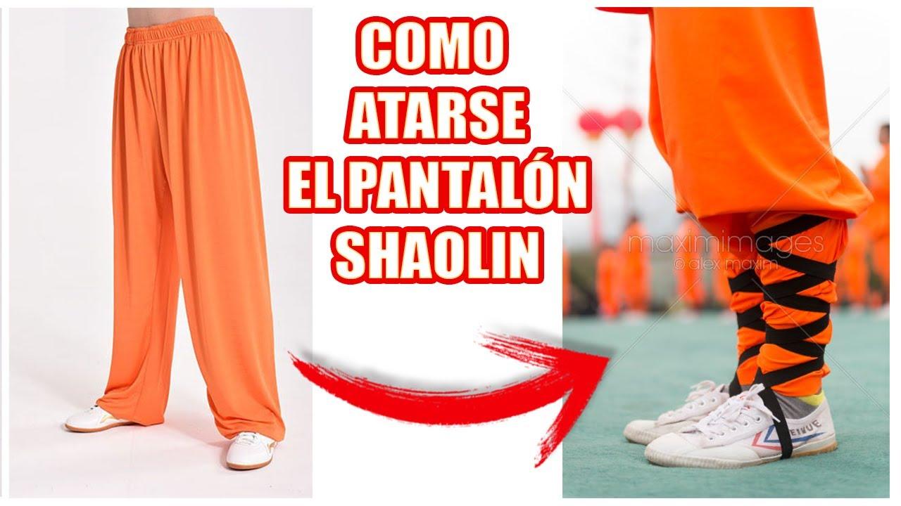 Como Atarse Los Pantalones De Shaolin Cintas En Las Piernas Youtube
