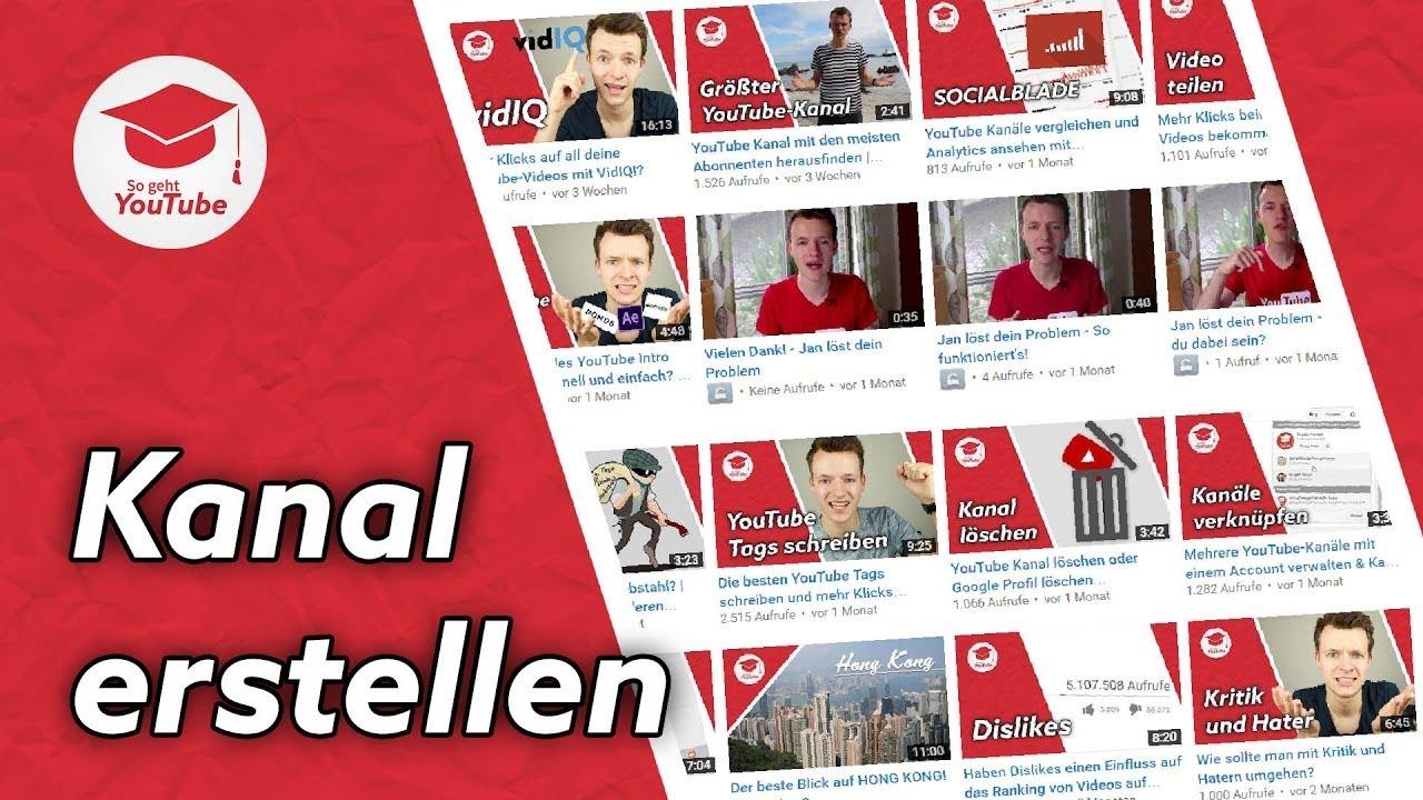 You Tube Kanal Erstellen