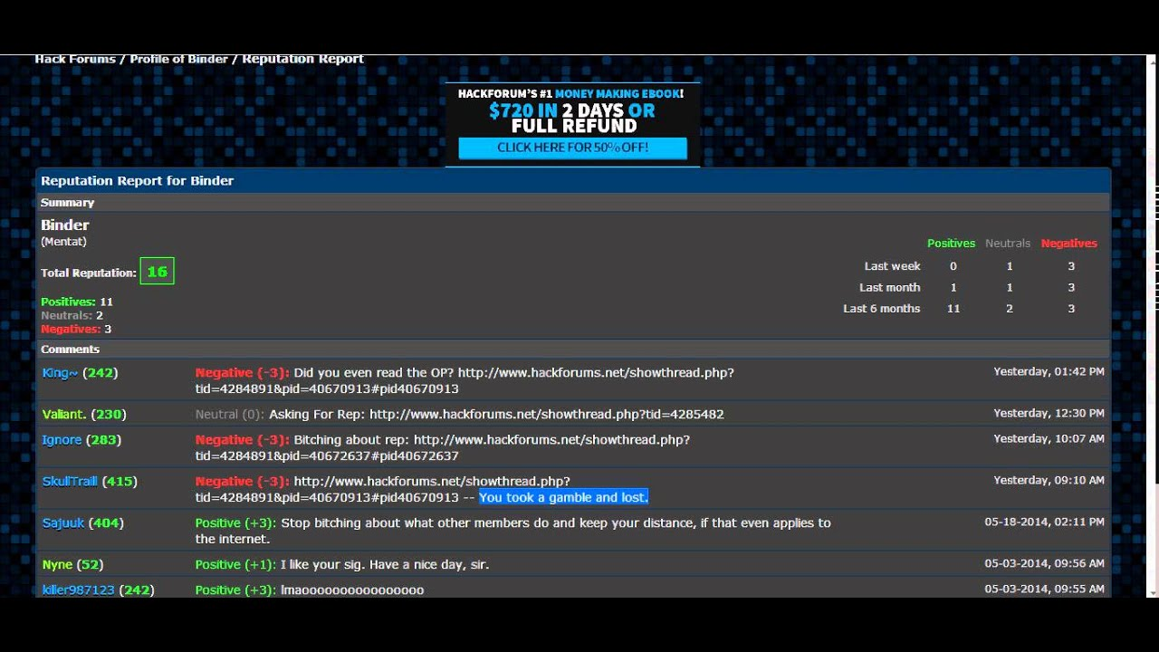 This is why you should not join [Hackforums] They also deleted again the  thread