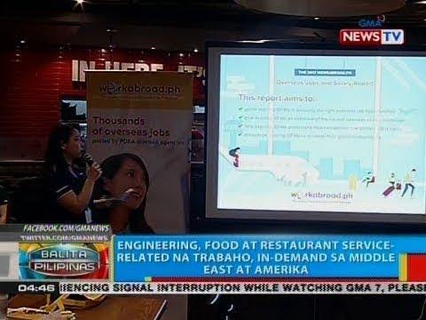 BP: Engineering, food at restaurant service-related na trabaho, in-demand sa Middle East at Amerika