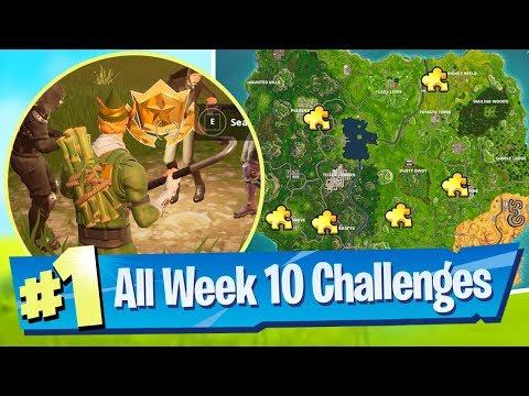 Fortnite SEASON 5 WEEK 10 Challenges Guide (Jigsaw Piece Locations)