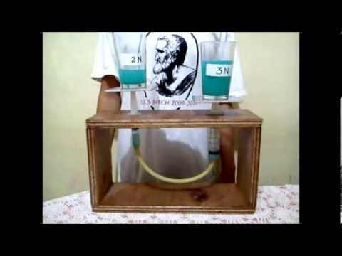Fluid meter and tray hydraulic experiment