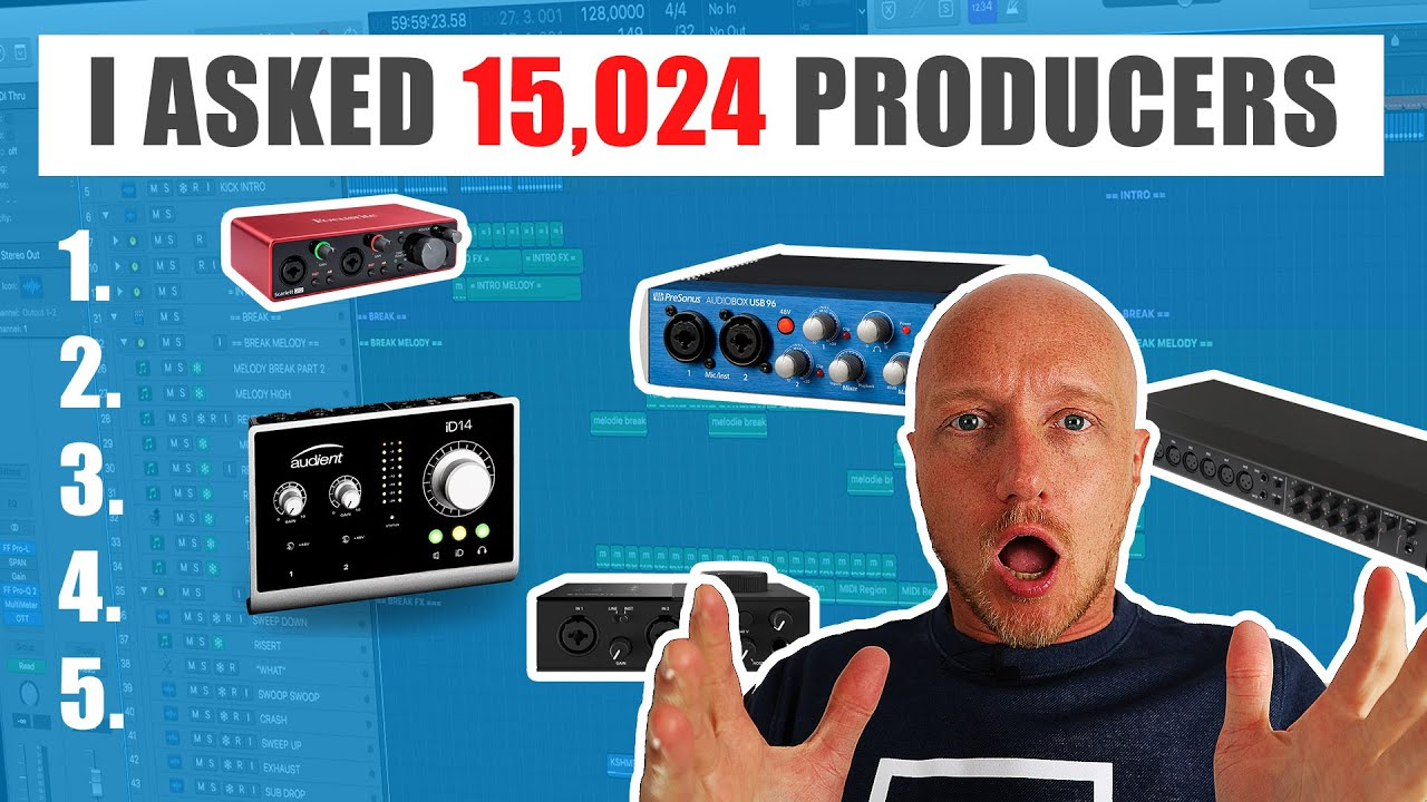 Top 5 Best Audio Interfaces For Music Production Youtube