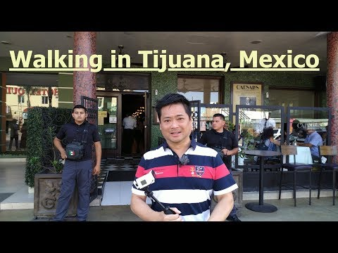 Street walking in Tijuana, Mexico