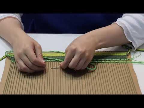 Мастер класс «Коврик на картоне» в технике гобелен