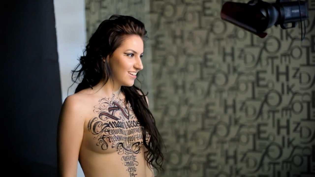 Calligraphy On Girls Tania 18 Molotow Youtube