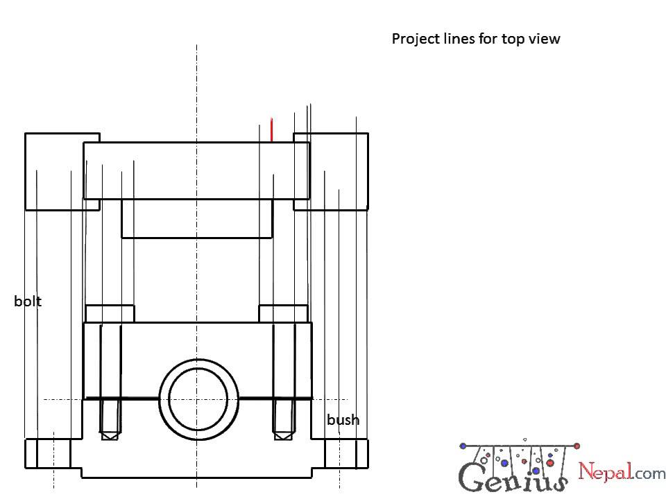 Engineering Drawing Tutorials/Assembly drawing with Front view & Side view  (T 10 3)