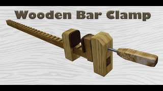 Strong Wooden Bar Clamp