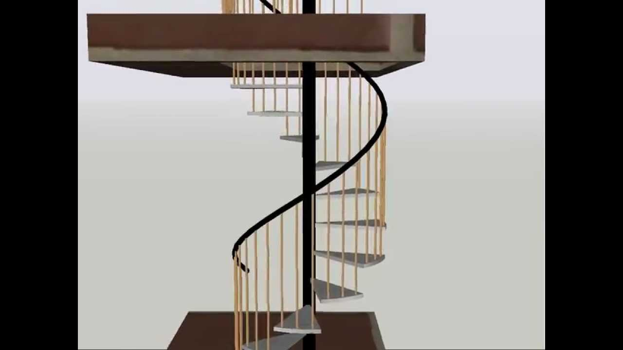 Escalera de caracol autocad 3d youtube for Escaleras 3d max