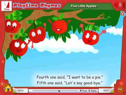 Five Little Apples  Nursery Rhymes
