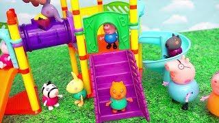 Peppa e Amigos Peppa Pig Brinquedos e Massinha Play Doh - Papai Pig Fica Preso no Túnel -Brinquedonovelinhas