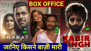 Box Office Collection, Kabir Singh 1st Day Collection, Bharat collection, De de pyar de Collection,
