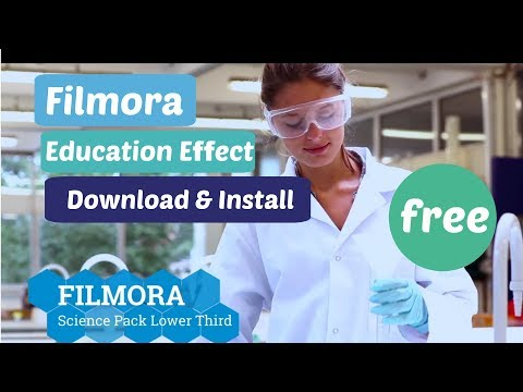 how to filmora Education effect pack free...