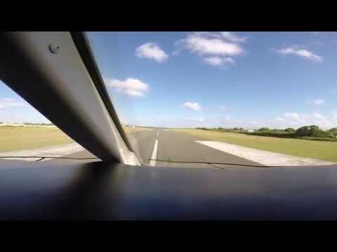 Challenger 300 Landing Caribbean island of Anguilla AXA TQPF