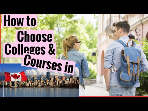 Study permit visa#how to choose college and courses in canada#immigration canada#study visa process