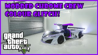 Gta 5 online how to get modded purple chrome crew colour
