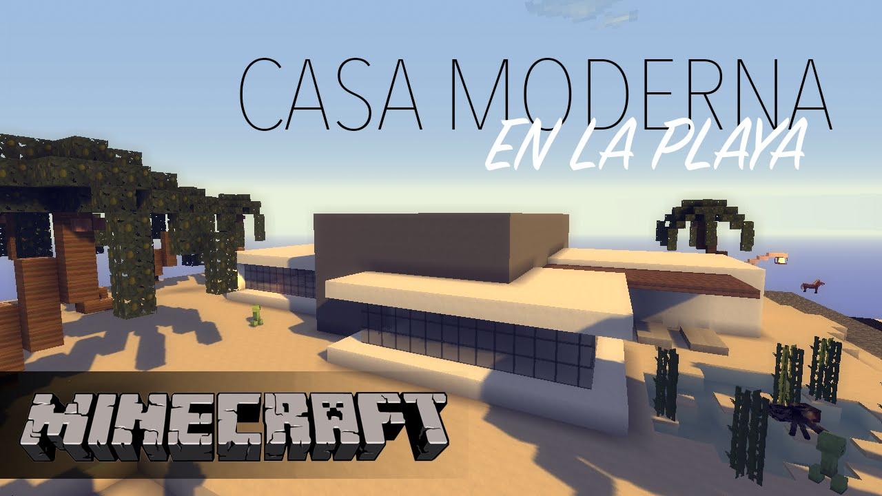 Como hacer una casa moderna en minecraft en la playa for Como disenar una casa moderna