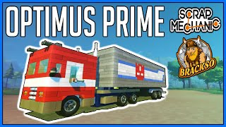 Transformer Optimus Prime -  Scrap Mechanic Showcase Video [PC Gameplay]