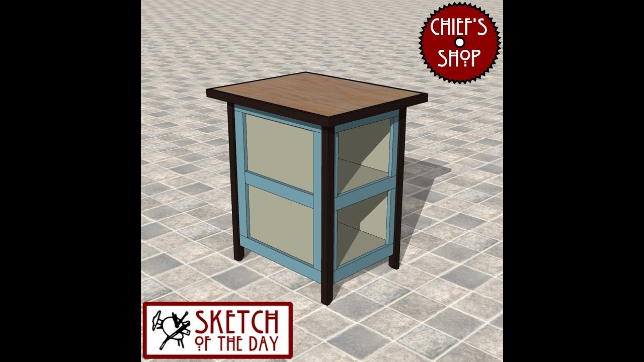 Chief's Shop Sketch Of The Day: Simple Kitchen Island